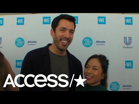 Drew Scott & Fiancée Linda Phan Talk Marriage Plans & Their Wedding Registry For Clean Water