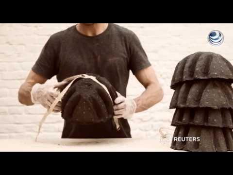 Proponen cascos reciclados como opción para ciclistas en Londres