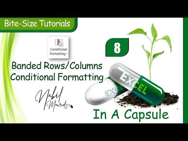 Banded Rows or Columns Conditional Format- Excel In A Capsule (Episode 8)