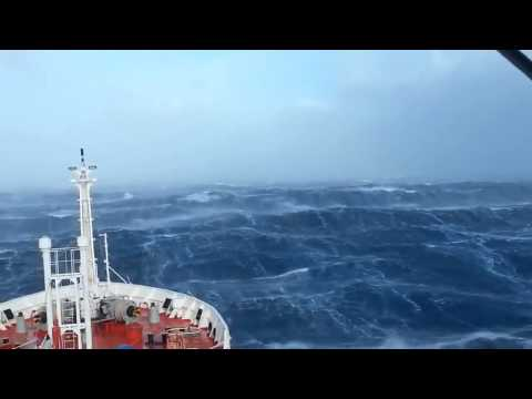 Ship in Indian ocean. Storm.