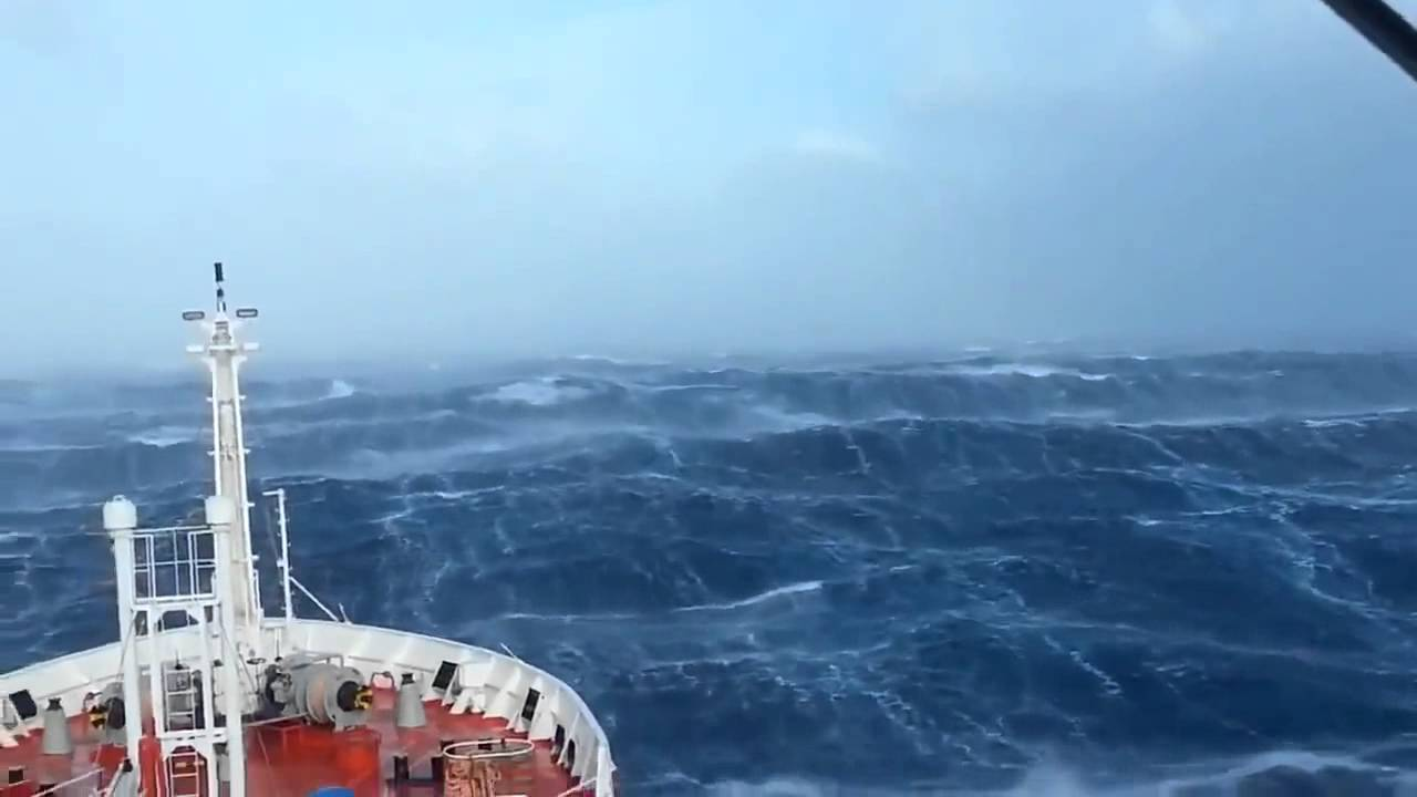 Ship in Indian ocean. ...