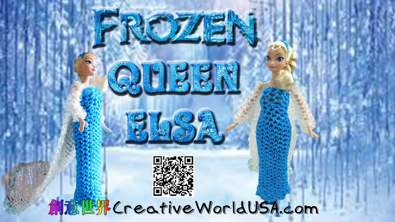 Rainbow Loom Frozen Queen Elsa Barbie Dress Wedding