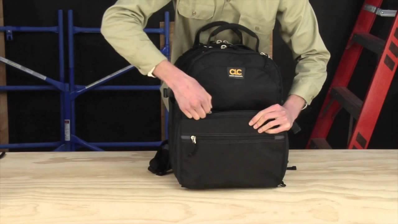 d0d9c28b2848 Custom Leathercraft L255 Tech Gear 53 Pocket Lighted Back Pack - YouTube