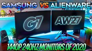 Alienware AW2721D vs Samsung Odyssey G7! Which is the BEST 1440P 240Hz monitor?!