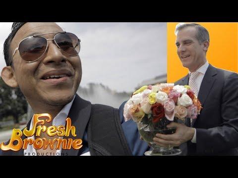 Fresh Brownie Met Mayor Eric Garcetti of Los Angeles and His Family!!