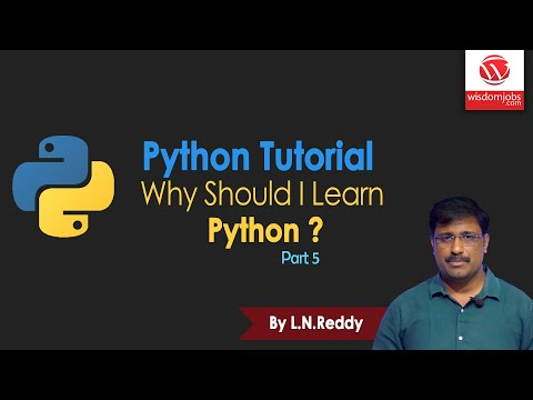Why Should I Learn Python ? | Python Tutorial | Part 5 | By L N Reddy B | Wisdom Jobs thumbnail
