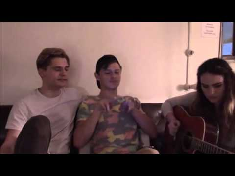 Andy Mientus, Kathryn Gallagher, & Joshua Castille perform The 1975's 'Sex'