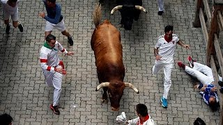 Pamplona: la festa con i tori si chiude con dodici feriti, protestano gli animalisti thumbnail