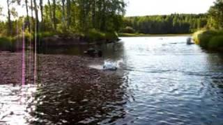 RC CAR SKIPPING WATER