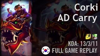 Corki AD Carry vs Lucian - Fury - KR Challenger Path 6.1