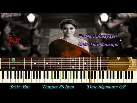 Janam Janam Dilwale | Arijit Singh | Instrumental | Karaoke | Piano Notes & Chords Tutorial