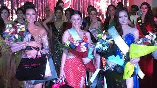 Miss Global Indonesia 2018 tinalbugan ang pambato ng Pilipinas sa prelims evening gown competition