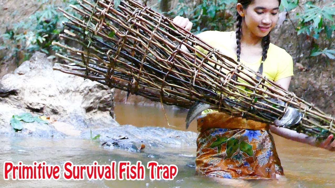 how to make fish traps survival