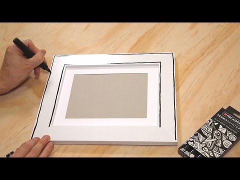 IDEA Picture Frame Art with Micador For Artists PermaPainters