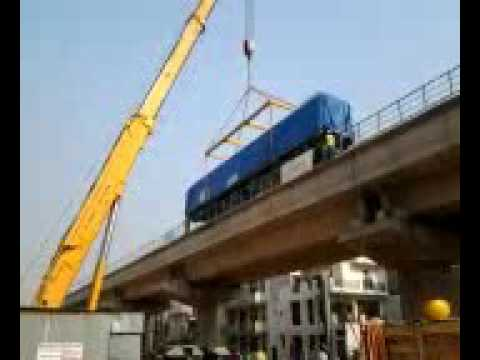 Delhi Metro Rail coaches installation work