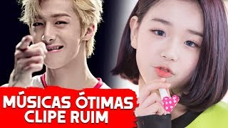 +10 Músicas boas com MV RUIM no K-POP! ❌ 🎥