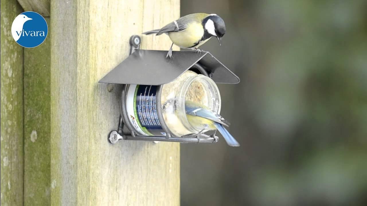 gartenvogel erdnussbutter mit erdnussbutter glashalter wicklow youtube. Black Bedroom Furniture Sets. Home Design Ideas