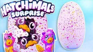 Hatchimals Baby Giant Interactive Eggs that Hatch  Twin Time ! Baby Animal Hatchimals Surprise Hatch