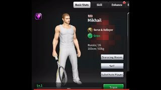 How i got RED player  Mikhail with free coins - Ultimate Tennis