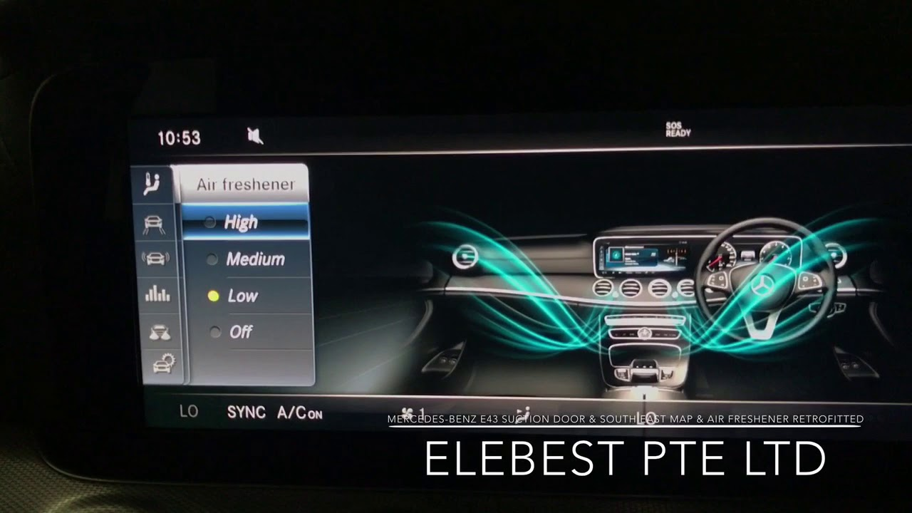 Mercedes benz e43 suction door south east map air for Mercedes benz air freshener