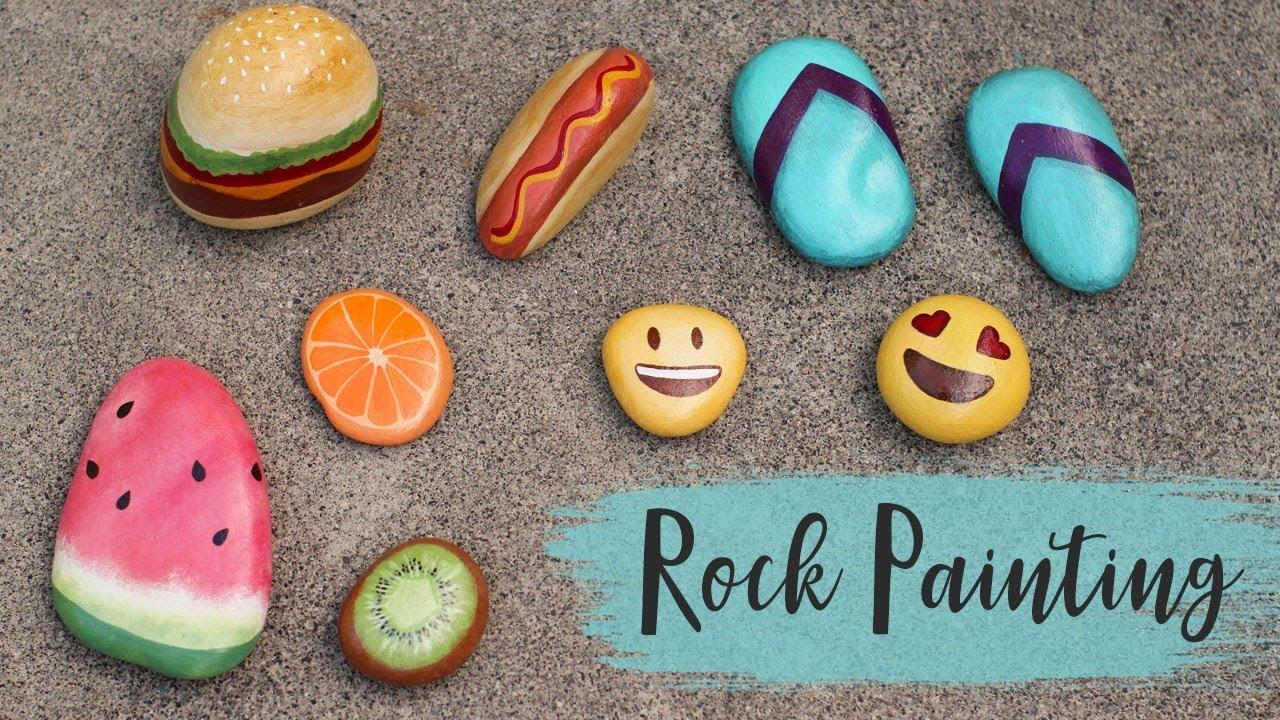 5 Fun Rock Painting Ideas Summer Craft Ideas Youtube