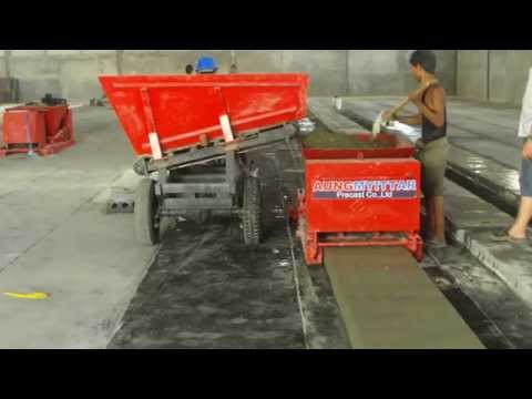 First-Class Precast Concrete Machinery in Myanmar, Hollow Core Slab Machine