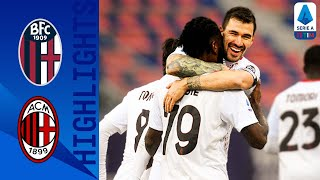 Bologna 1-2 Milan | Rebić and Kessié Secure Win Despite Late Poli Goal | Serie A TIM
