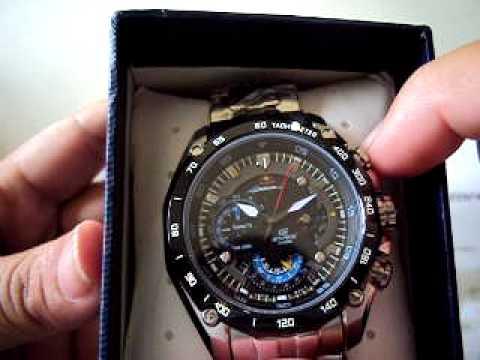 2f7fe6b94a5 Casio Edifice 550RBSP Red Bull Racing Original com a função 1 20 seconds -  YouTube