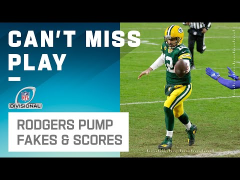 Rodgers Puts Up a Nasty Pump Fake & Runs in for the TD