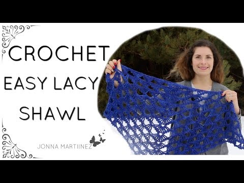 How To Crochet An Easy Lacy Shawl, Calandria Shawl