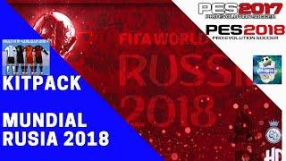KITPACK | UNIFORMES DE SELECCIONES RUSIA 2018 | PES 2017 Y PES 2018 PC