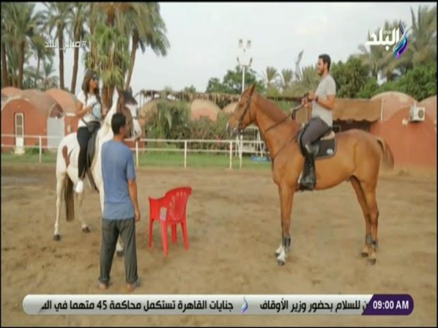 صباح البلد تعلم كيفية ركوب الخيل و توجيه الحصان Youtube