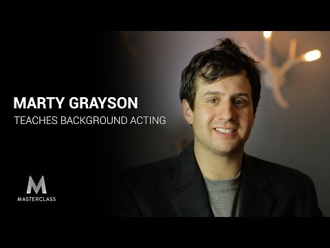 Marty Grayson Teaches Background Acting (MasterClass Parody)