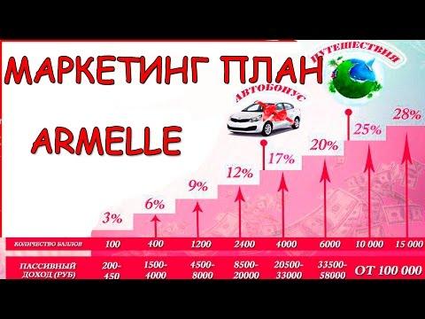 Сколько можно заработать денег в Армель. Щедрый маркетинг план Armelle (ролик компании)