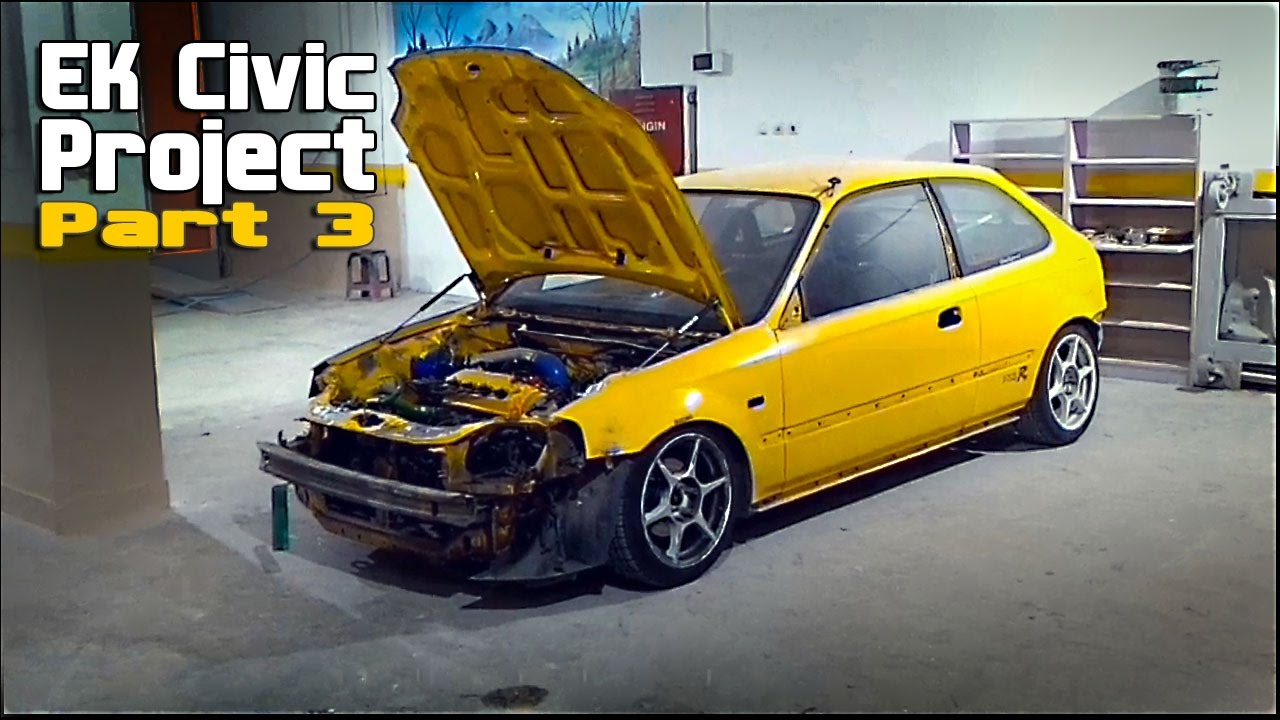 Ek Civic Projesi Part 3 Kaporta Boya Youtube