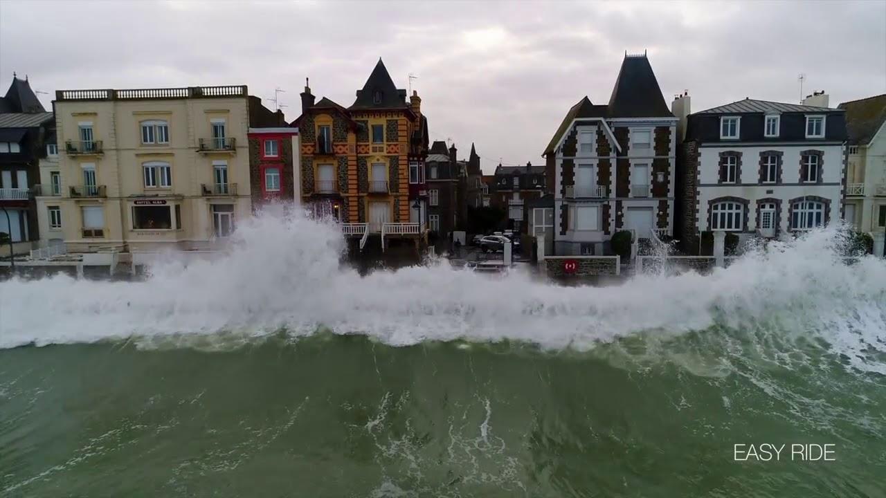 Шторм Элеонор в Сен Мало (Бретань, Франция) 3.01.2018