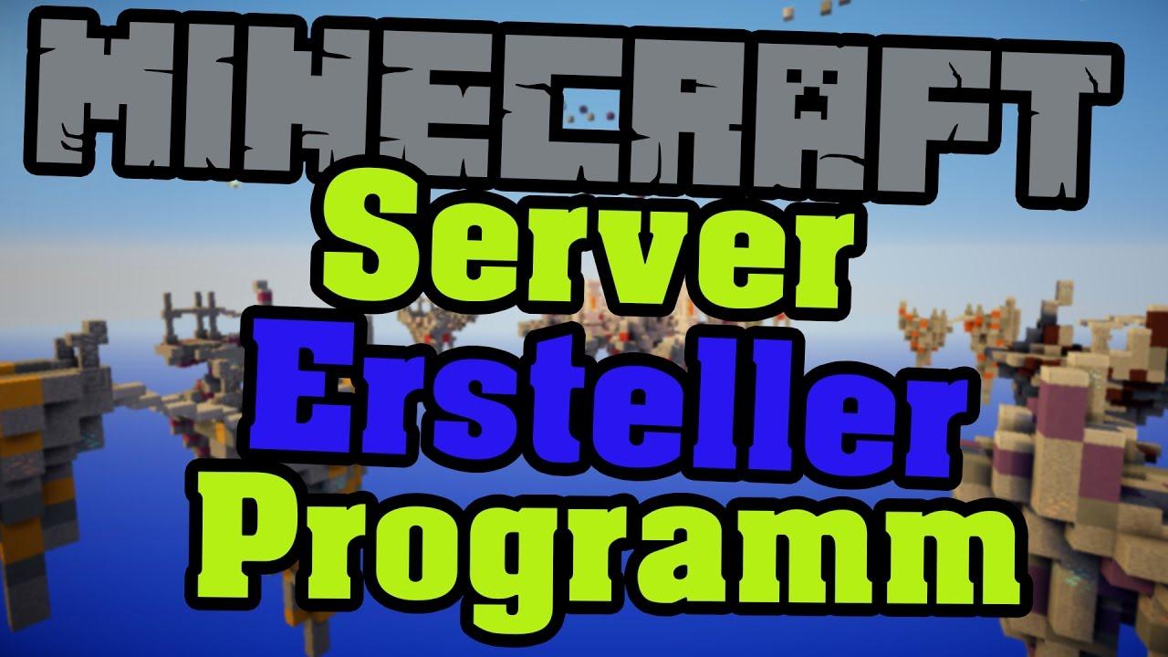 MINECRAFT SERVER ERSTELLEN Automatisches Programm Konsole - Minecraft server erstellen und mit freunden spielen