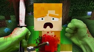 REALISTIC MINECRAFT SCHOOL - STEVE BECOMES HULK AND KILLS ALEX! ( Minecraft Animation )