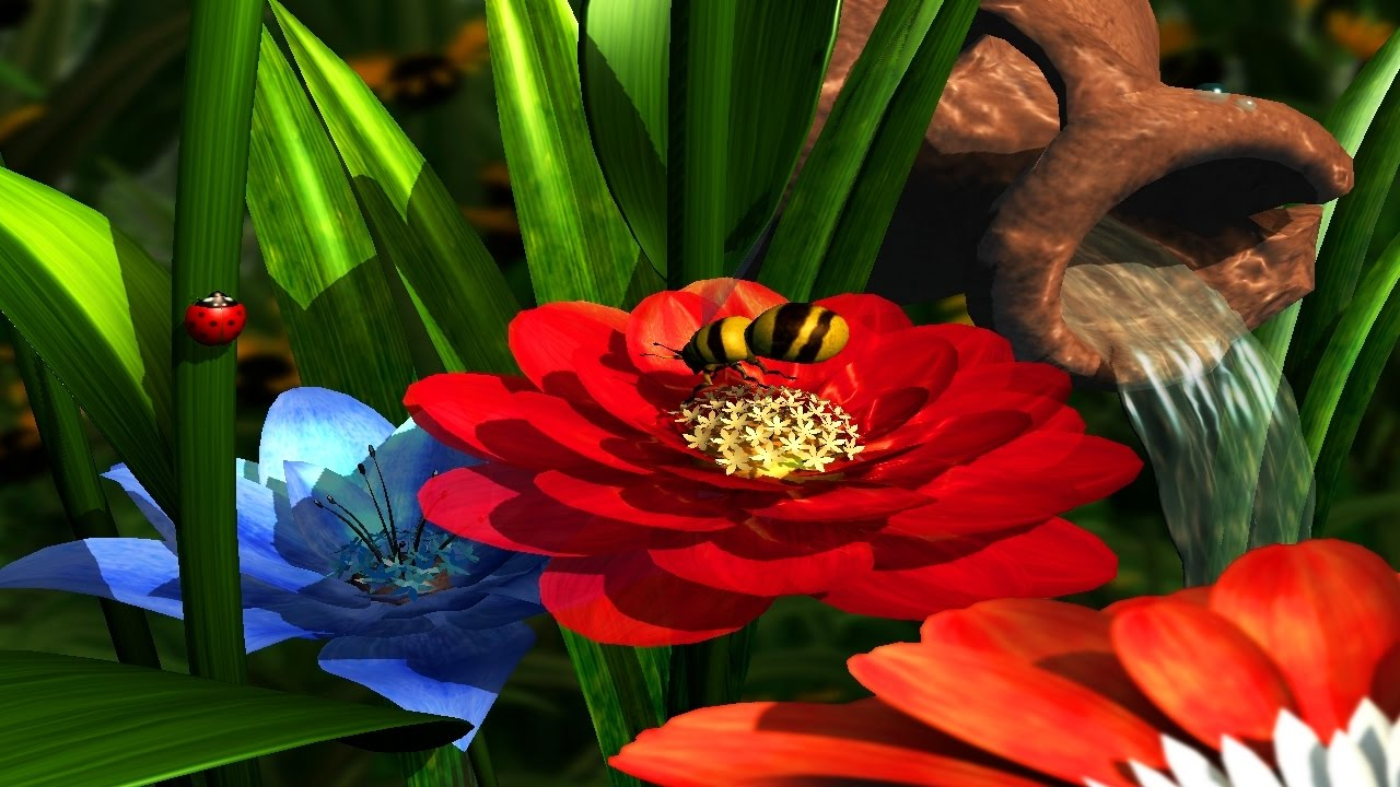 Garden flowers 3d screensaver for windows hd youtube - Garden screensavers free ...