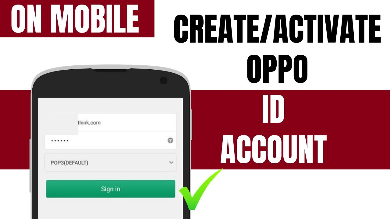How to create oppo id Account    How to activate oppo account
