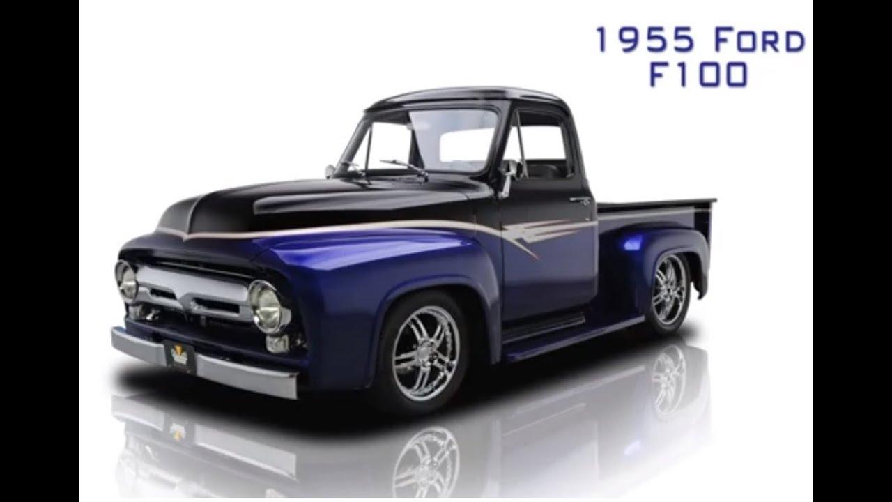 pick up ford 1955 f100 youtube. Black Bedroom Furniture Sets. Home Design Ideas