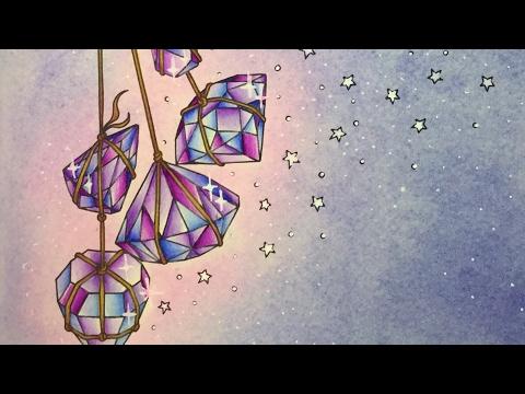DAYDREAMS - DAGDROMMAR by Hanna Karlzon - prismacolor pencils - color along