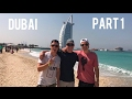 DUBAI TOUR PART 1! 🇦🇪Jumeriah Beach, Atlantis Palm & Burj Al Arab Hotels 🏖DAILY TRAVEL VLOG 06