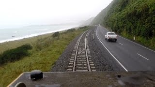 New Coastal Pacific Train 2014 - Part 2 - from the Drivers Cab and Open Air Observation Carriage.
