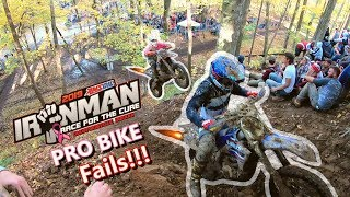2019 IRONMAN GNCC PRO BIKE FAILS / BLOOPERS/ CRASHES