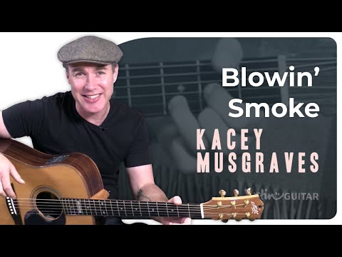 Blowin Smoke - Kasey Musgraves - 2 Chords Very Easy Song Guitar Lesson Tutorial (BS-124)