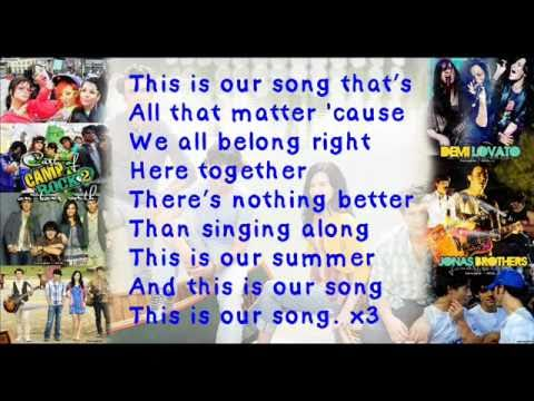 Camp rock 2 this is our song lyrics
