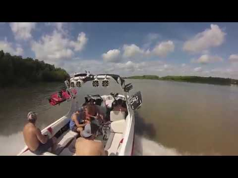 Wakeboarding on Trinity River