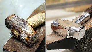 Turning old rusty hammer into Mjolnir TOOL RESTORATION thumbnail