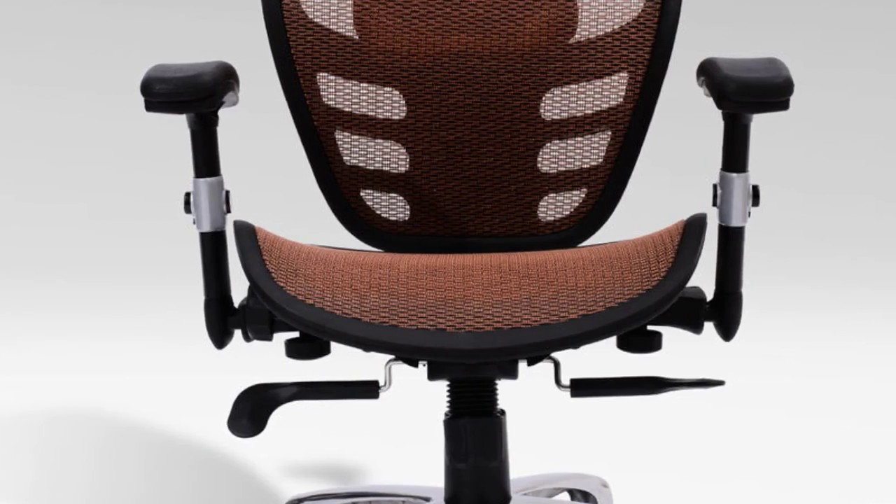 office chairs with lumbar support and adjustable arms youtube. Black Bedroom Furniture Sets. Home Design Ideas